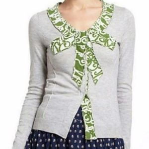 Anthropologie Moth Gray Green Snap Button Cardigan